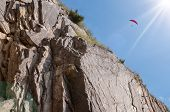 Paragliding Flight In The Mountains