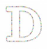 Letter D With Pushpin