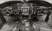 Old Airplane Cockpit