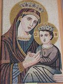 Mosaic of Maria and Jesus