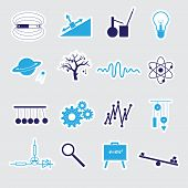 Physics Stickers Set Eps10