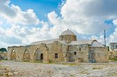 foto of manor  - The medieval Church of Panagia Katholiki located in the famous village Kouklia next to the archaeological site and Lusignans Manor Cyprus - JPG