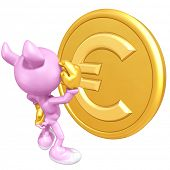 Mini Gold Guy Pig With Gold Coin