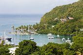 Yacht Harbor On St Lucia
