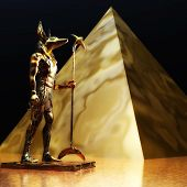 picture of anubis  - Digital 3D Illustration of an Anubis Statue - JPG