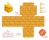 Printable Gift Box With Abstract Wavy Pattern
