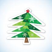 Green Christmas Fir Tree.