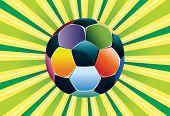 Soccer Ball On Green Background