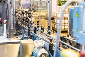 stock photo of assembly line  - Automatic packing line of conveyor - JPG