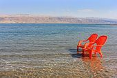 Landscape With Chairs At The Dead Sea