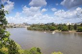Brisbane, Australia - 26th September, 2014: View from Kangaroo point overlooking Brisbane City.