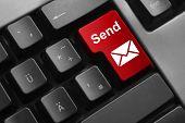 Keyboard Red Button Send Mail