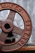 rusted metal speed wheel