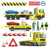 stock photo of wreckers  - Roadside assistance - JPG