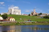 Theater And Neman River. Grodno, Belarus