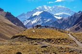 Aconcagua National Park's Landscapes In Between Chile And Argentina