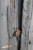 Aged Door At House