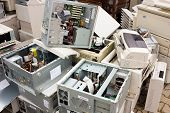 picture of discard  - waste electrical and electronic equipment cause of serious health 