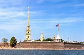 Beach Near The Peter And Paul Fortress, St Petersburg, Russia