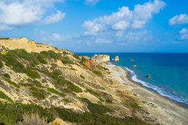 picture of saracen  - The coast of Paphos with the Aphrodite - JPG