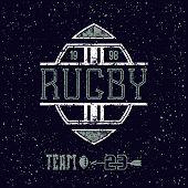 College Emblem Rugby Team