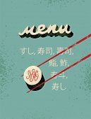 pic of sushi  - Restaurant vintage menu design for sushi - JPG