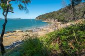 pic of deserted island  - Deserted Australian beach in the Northern beaches area of NSW - JPG
