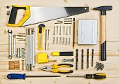 Assorted Woodwork And Carpentry Or Construction Tools