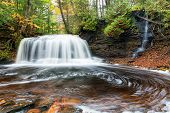 Rock River Falls In Autumn - Upper Peninsula, Michigan