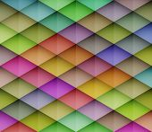 Abstract colorful mosaic background. Graphic pattern with rhombus elements. Vector illustration