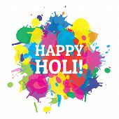 picture of indian culture  - Indian festival Happy Holi colors splash vector - JPG