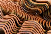 Old roofing tiles