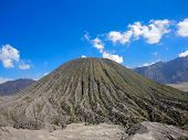 picture of bromo  - View at Mount Bromo at Java in Indonesia