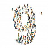 People crowd. Vector figures, 9