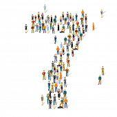 People crowd. Vector figures, 7