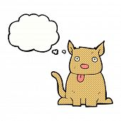 picture of sticking out tongue  - cartoon dog sticking out tongue with thought bubble - JPG