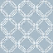 Geometric Abstract Seamless  Pattern with White Dots