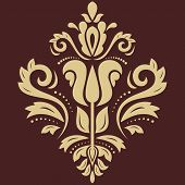 Damask  Pattern. Golden Ornament