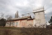 Old Building Of Small Telescope In The Crimea In The Autumn