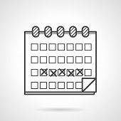 Black vector icon for menstrual calendar