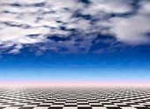 Checkered Landscape Background