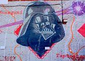 Street art Montreal Darth Vador
