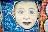 Street art Montreal children