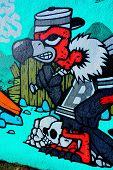 Street art Montreal vulture