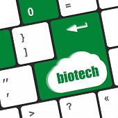 Bio Tech Word On Computer Keyboard