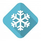 snow flat icon air conditioning sign