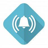 alarm flat icon alert sign bell symbol