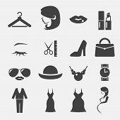 picture of fat lip  - web icon illustration design vector sign symbol - JPG