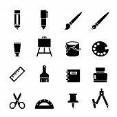 stock photo of protractor  - web icon illustration design vector sign symbol - JPG