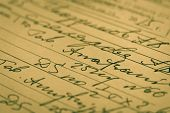 Handwritten medical prescription in Latin